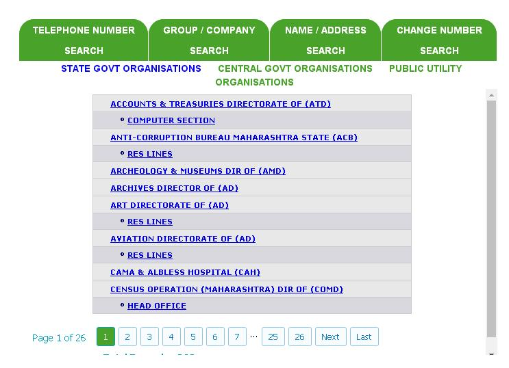 MTNL Search By State Govt