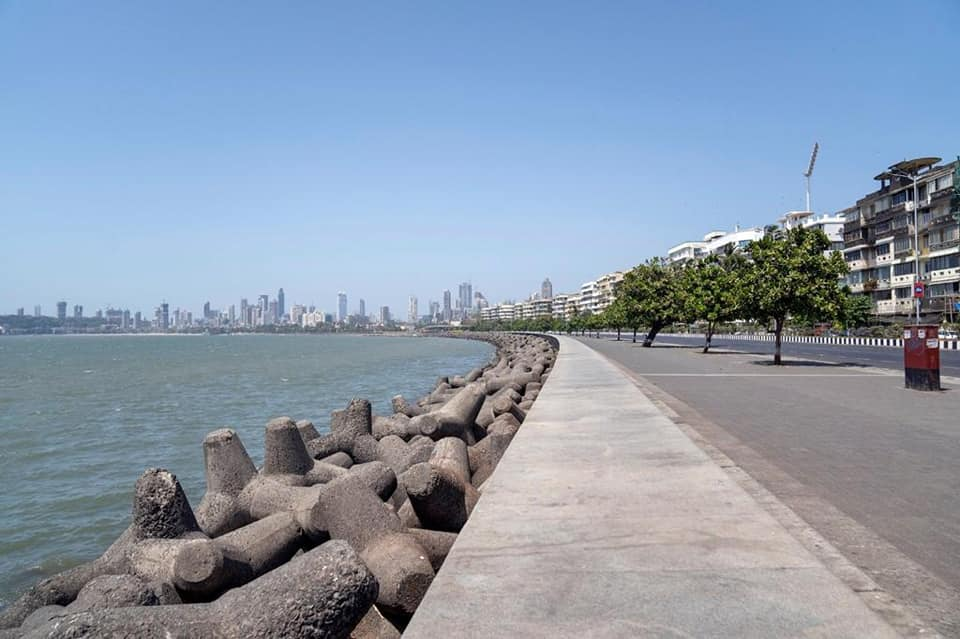 Marine Drive View During Curfew