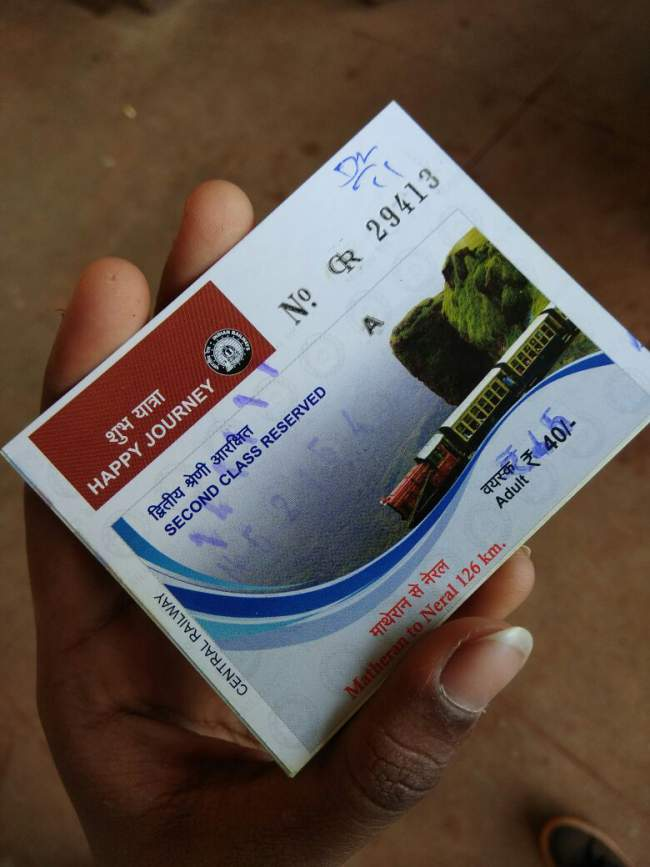 Matheran Toy Train Ticket