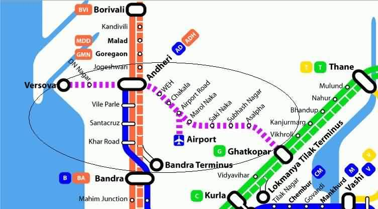 Metro Stations Routes