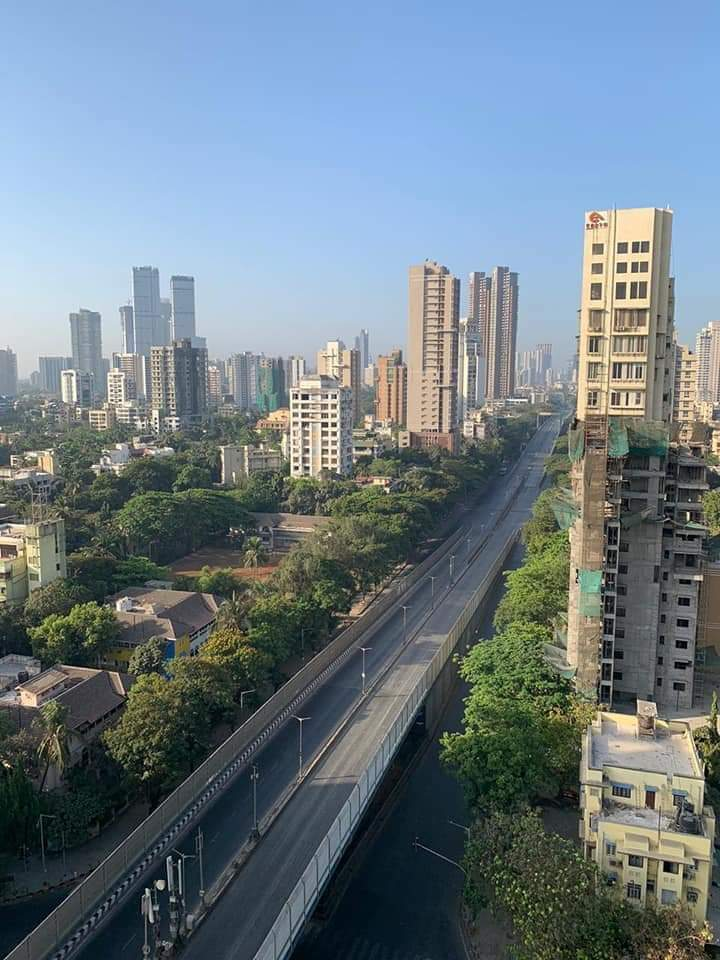 Mumbai Roads Lockdown Scene