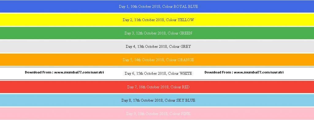 Navratri Colours 2018 - 9 Colours to Follow in Maharashtra | Gujarat