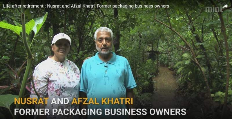 Nusrat and Afzal Khatri Inside Devbaug Garden