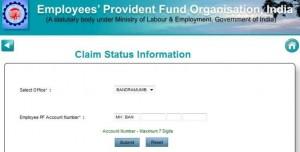 PF Claim Online Form