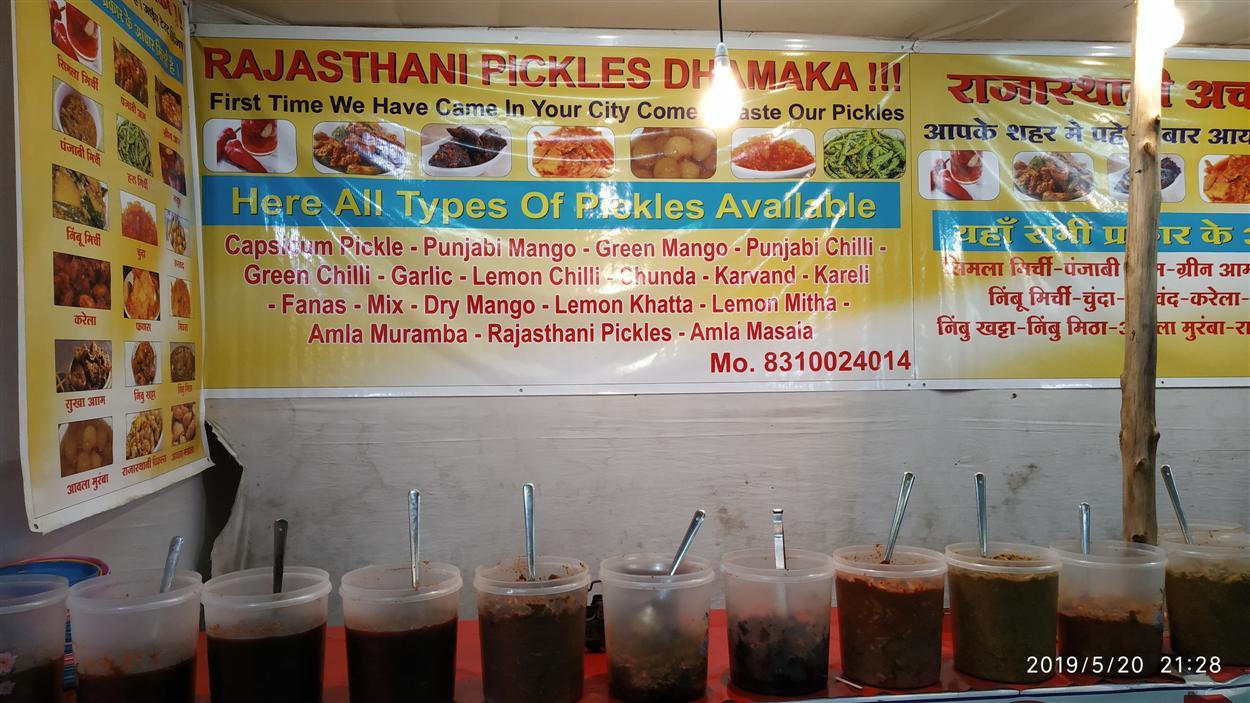 Pickle Stalls inside Mela Premise