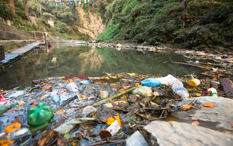 Plastic Bottles Garbage Inside Water