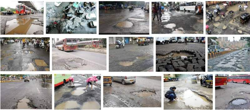 Potholes Mumbai Roads