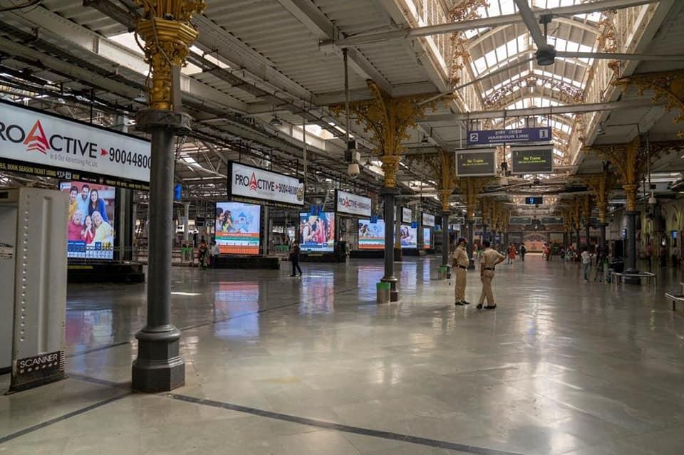 Railway Stations During Covid-19 attack in Mumbai