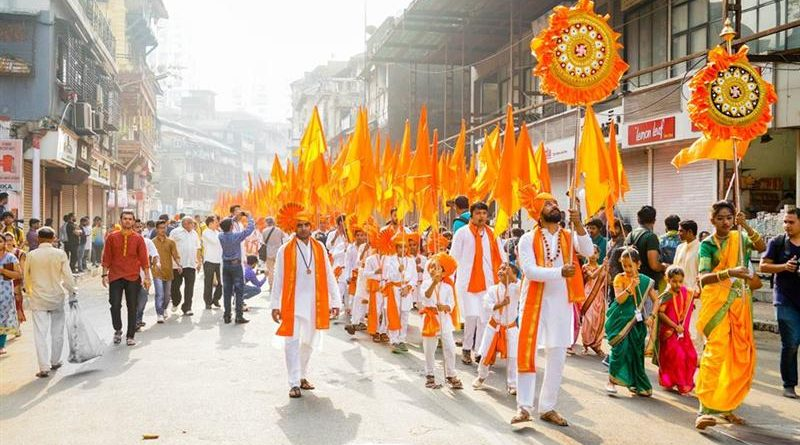 Group With Saffron Outfits
