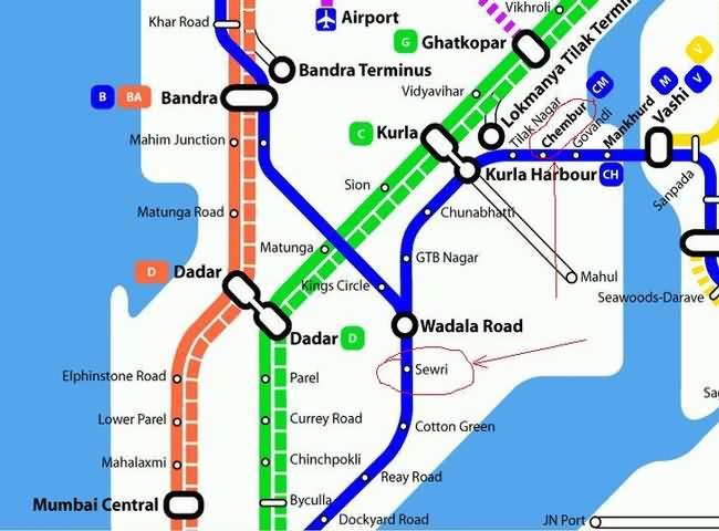 Sewri Chembur Map