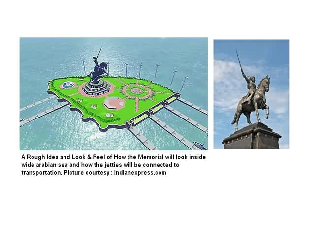 Picture Of Shivaji Memorial As Planned