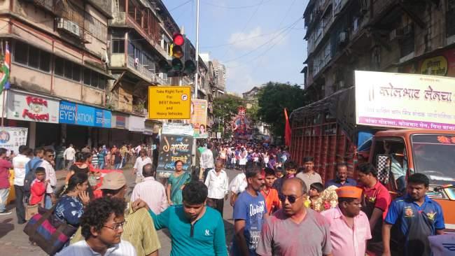 Streets During Visarjan