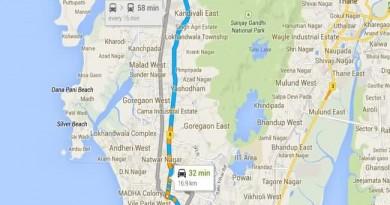 T2 to Borivali Route Map