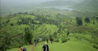 Trekkers in Monsoon