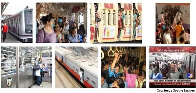 Women Travel in Local Trains