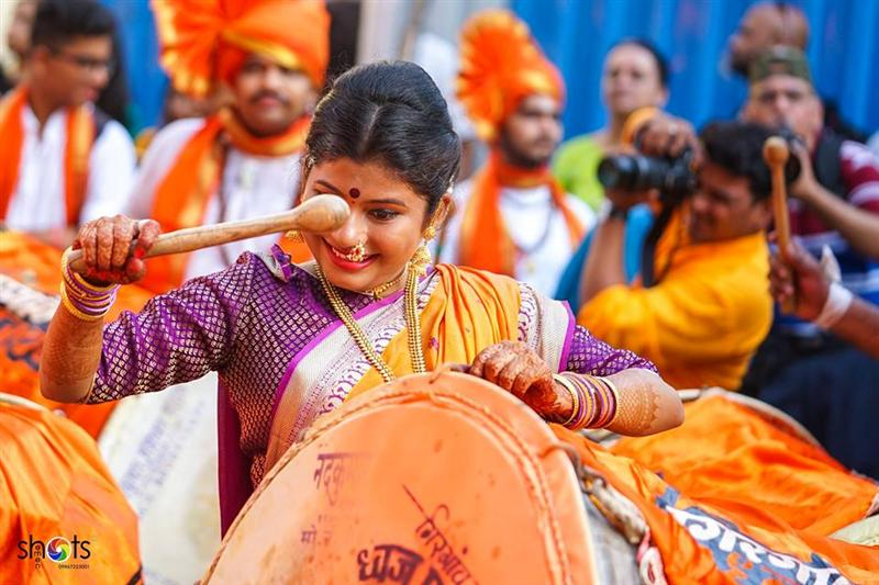 Women Playing Dhol
