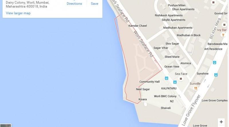 Worli Dairy Location in Mumbai