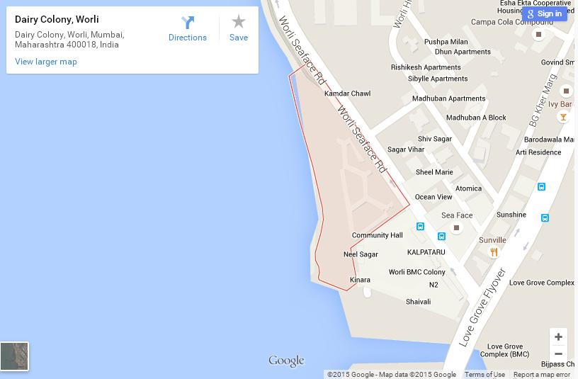 Worli Dairy Location in Mumbai