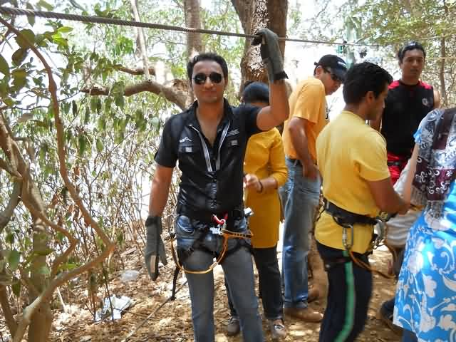 Zip Line Trial Session at Matheran