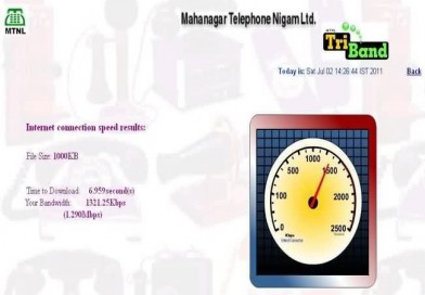 MTNL Broadband Speed Test Results