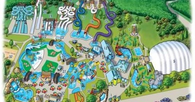 Esselworld and Waterkingdom Map