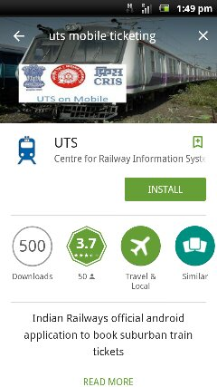UTS Mobile Ticketing Android App