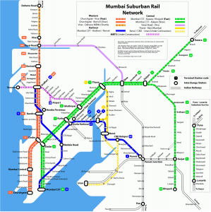Mumbai Railway Map